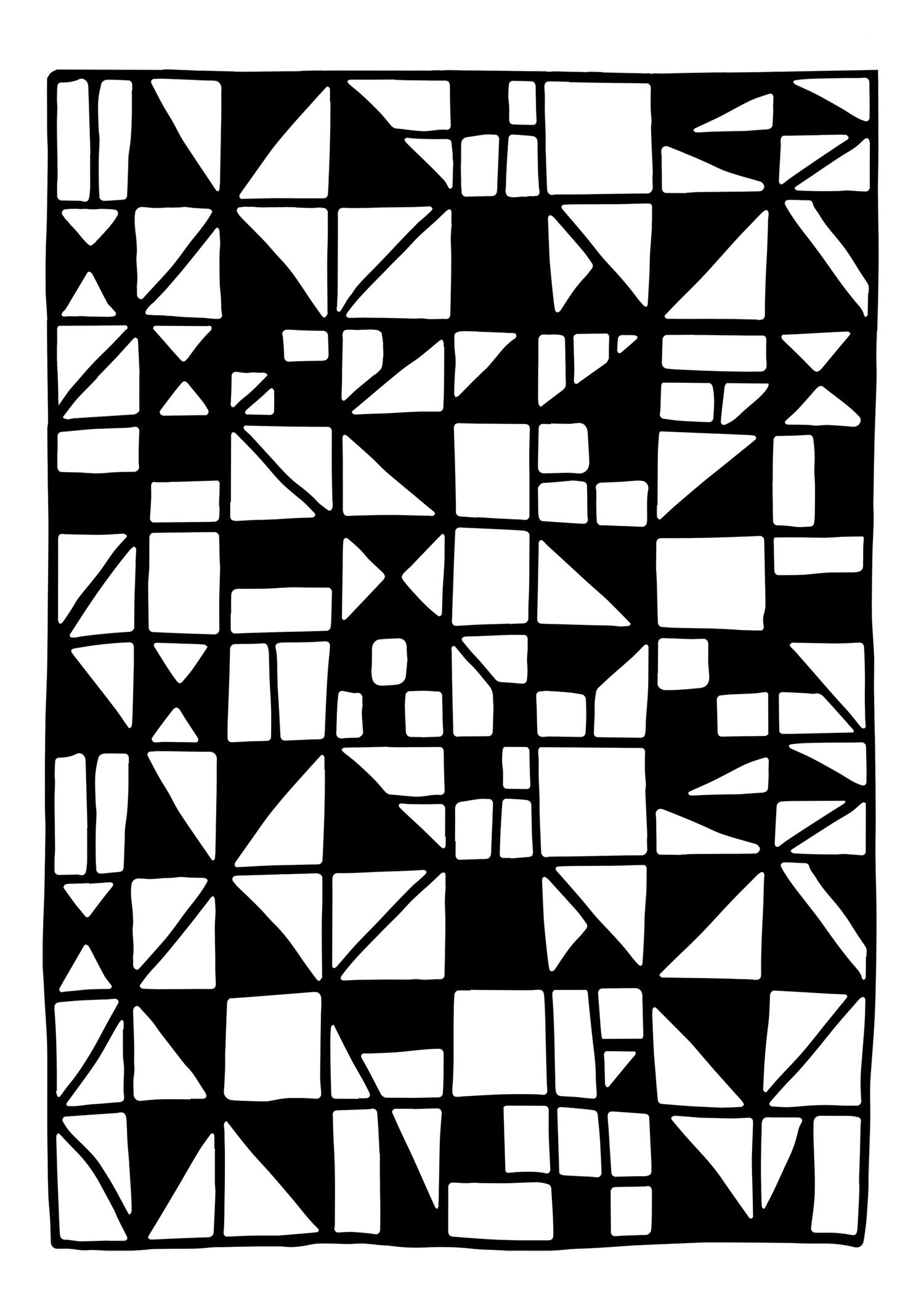décalcomanie céramique motif géométrique