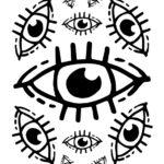 décalcomanie céramique œil