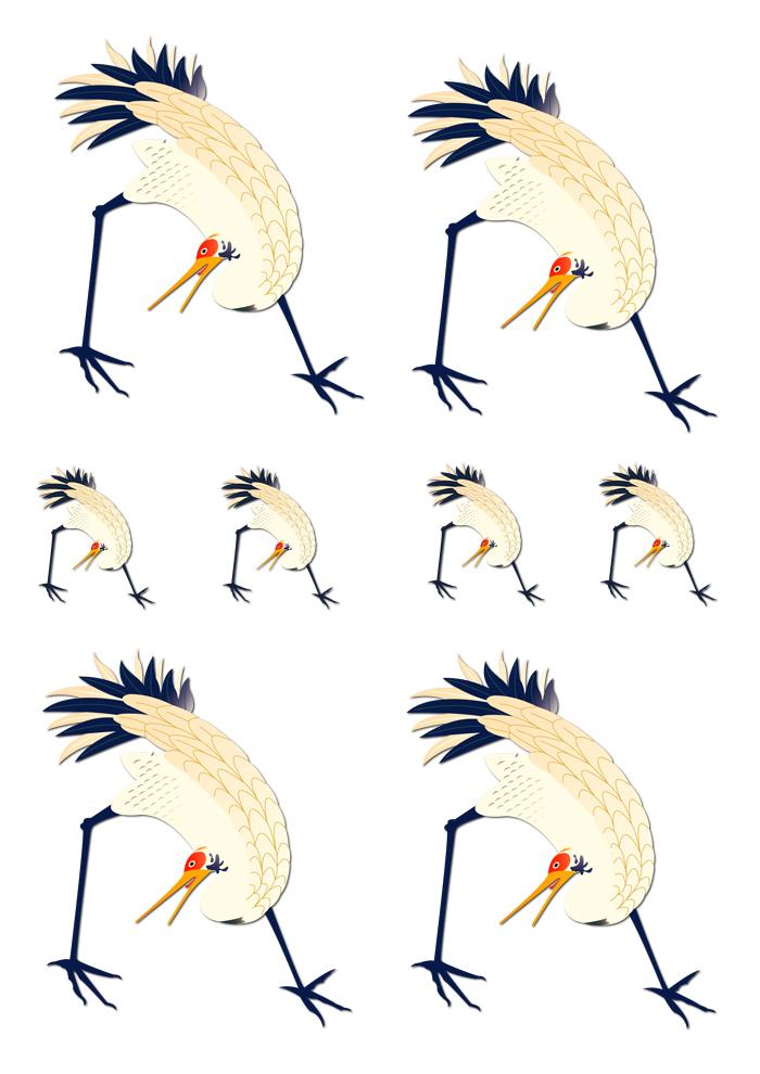 décalcomanie céramique oiseau