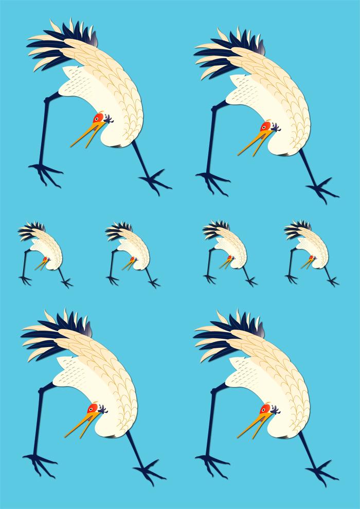 décalcomanie céramique oiseaux