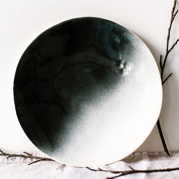 assiette en porcelaine éclipse