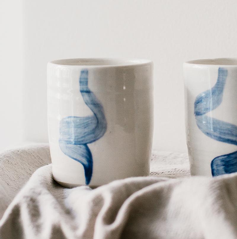 mug en porcelaine tournée