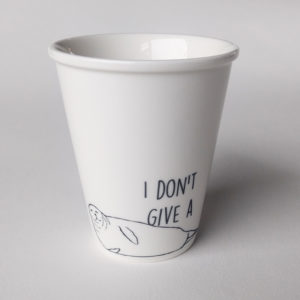 tasse à message I don't give a phoque