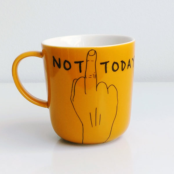 mug not today jaune