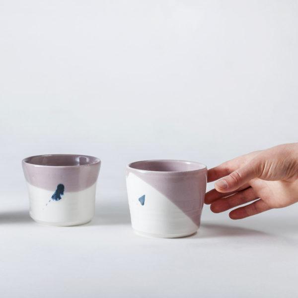 mugs en porcelaine tournée